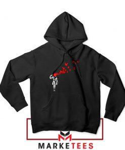 Banksy Suicide Girl Red Butterfly Hoodie - Best Hoodies Banksy Art