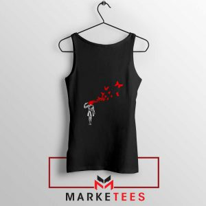 Banksy Suicide Girl Red Butterfly Tank Top - Cheap Tanks Banksy Butterfly