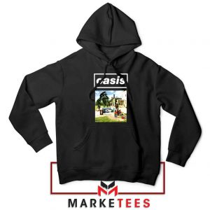 British Rock Band Oasis Black Hoodie