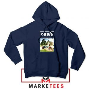 British Rock Band Oasis Navy Blue Hoodie