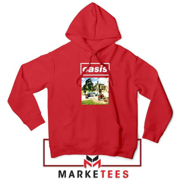 British Rock Band Oasis Red Hoodie