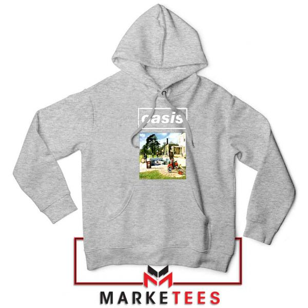 British Rock Band Oasis Sport Grey Hoodie