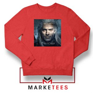 Actor Henry Cavill Red Sweatshirt