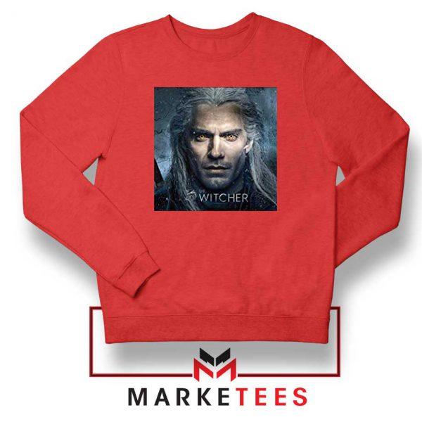 Actor Henry Cavill Red Sweatshirt