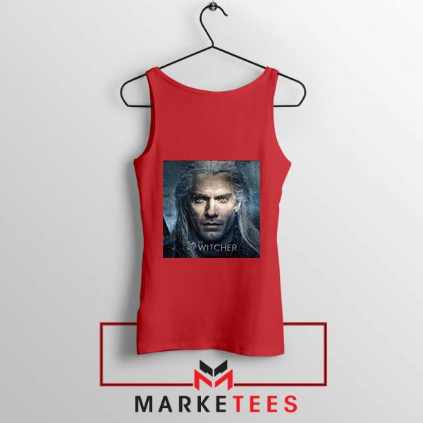Actor Henry Cavill red Tank Top