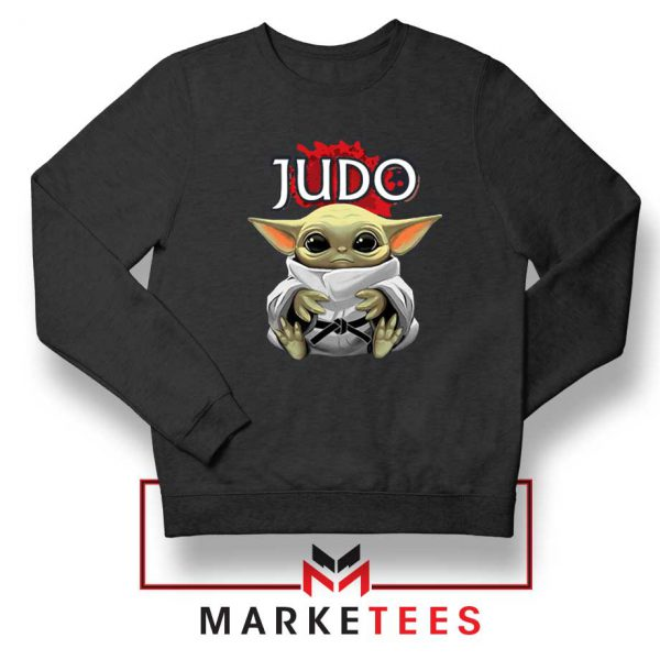 Baby Yoda Judo Black Sweater