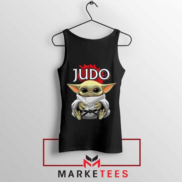 Baby Yoda Judo Black Tank Top