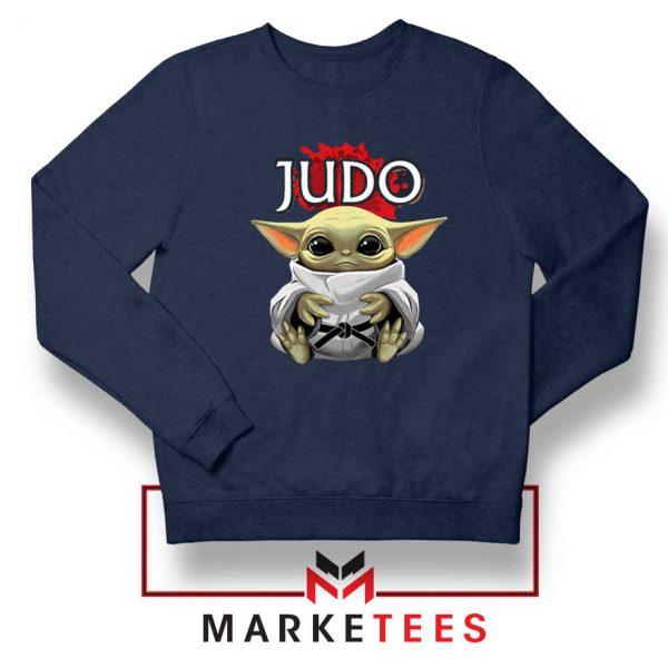 Baby Yoda Judo Navy Sweater