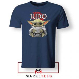 Baby Yoda Judo Navy Tshirt