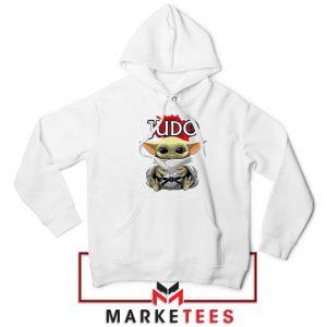 Baby Yoda Judo White Hoodie