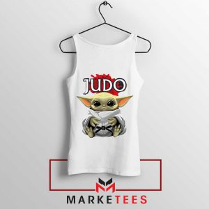 Baby Yoda Judo White Tank Top