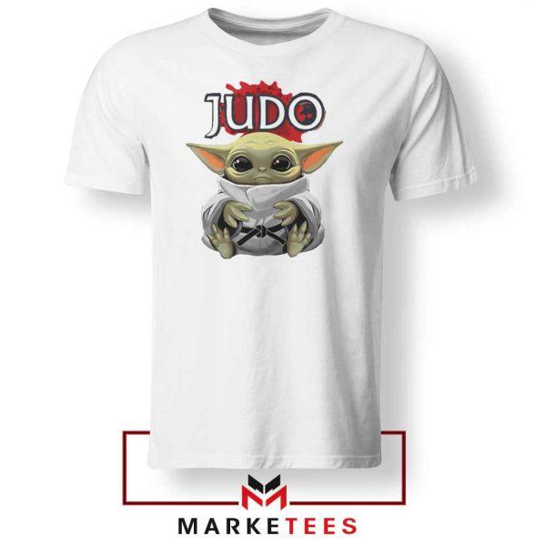 Baby Yoda Judo White Tshirt