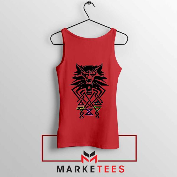 Bear School Witcher Red Tank Top
