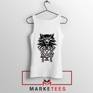 Bear School Witcher White Tank Top