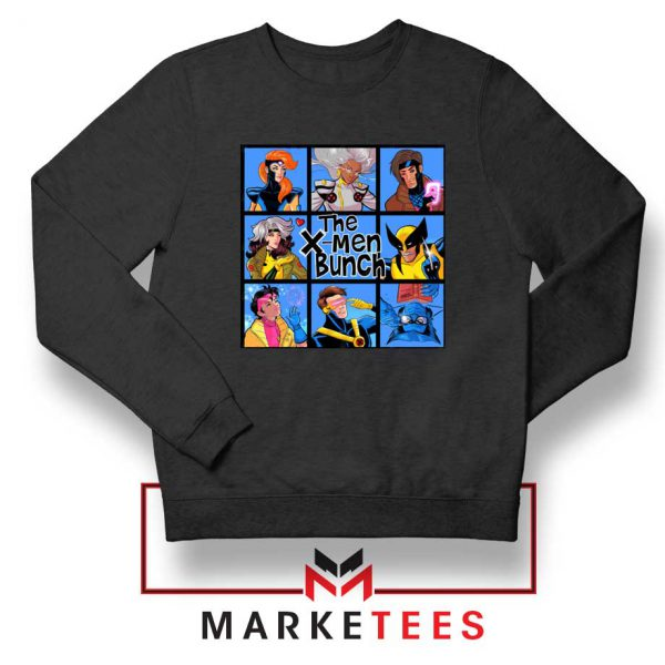 Bunch X Men Black Sweatshirt