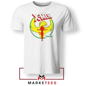Circle Dark Phoenix White Tshirt