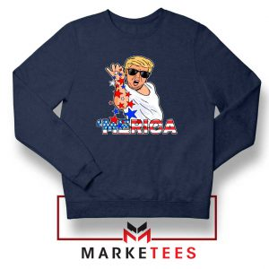 Donald Trump Parody Salt Bae Navy Sweater