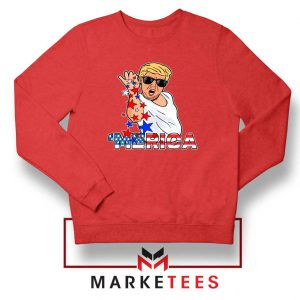 Donald Trump Parody Salt Bae Red Sweater