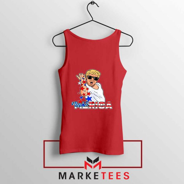 Donald Trump Parody Salt Bae Red Tank Top