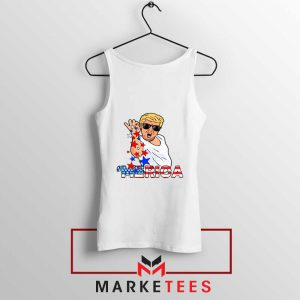 Donald Trump Parody Salt Bae White Tank Top