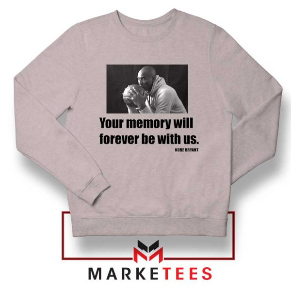 Forever Be With Us Kobe Bryant Grey Sweater