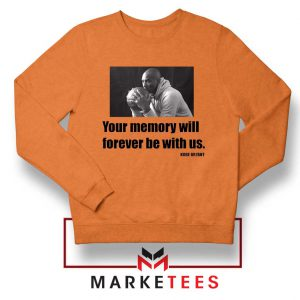 Forever Be With Us Kobe Bryant Orange Sweater