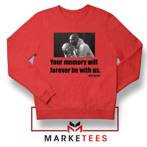 Forever Be With Us Kobe Bryant Red Sweater