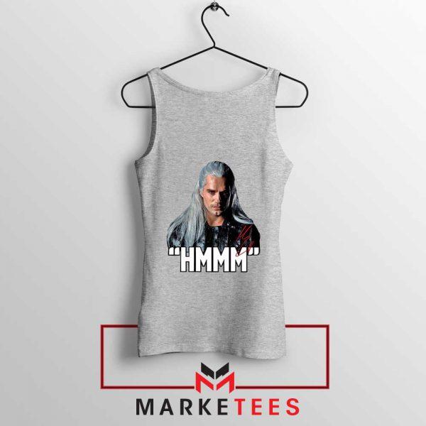 Geralt Of Rivia Saying Hmmm Grey Tank Top