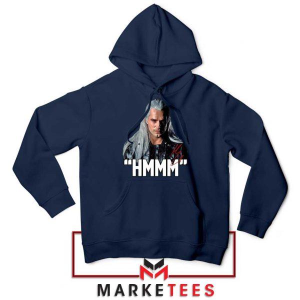 Geralt Of Rivia Saying Hmmm Navy Hoodie