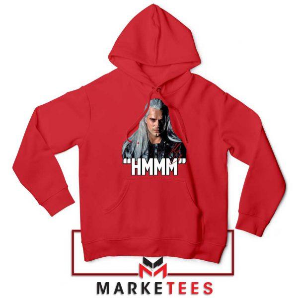 Geralt Of Rivia Saying Hmmm Red Hoodie