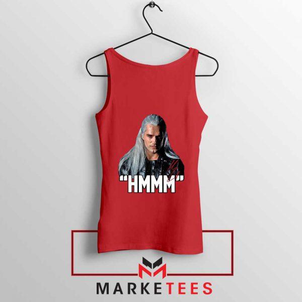 Geralt Of Rivia Saying Hmmm Red Tank Top