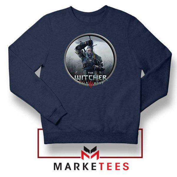 Geralt The Witcher 3 Wild Hunt Navy Sweatshirt