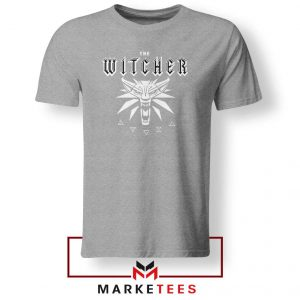Geralt Toss A Coin Grey Tee Shirt
