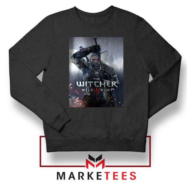 Geralt Witcher Wild Hunt Black Sweater