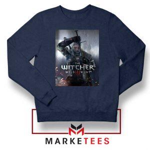 Geralt Witcher Wild Hunt Navy Sweater