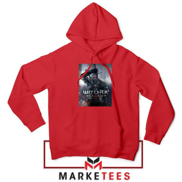 Geralt Witcher Wild Hunt Red Hoodie