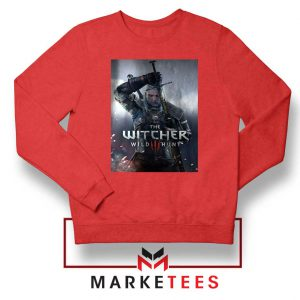 Geralt Witcher Wild Hunt Red Sweater