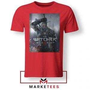 Geralt Witcher Wild Hunt Red Tshirt