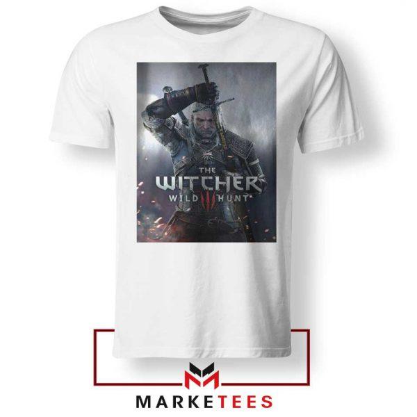 Geralt Witcher Wild Hunt White Tshirt