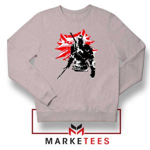 Geralt of Rivia Witcher 3 Grey Sweatshirt