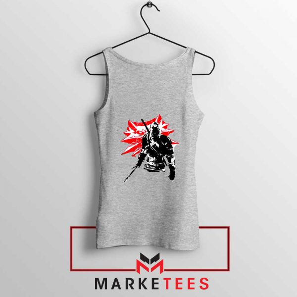 Geralt of Rivia Witcher 3 Grey Tank Top