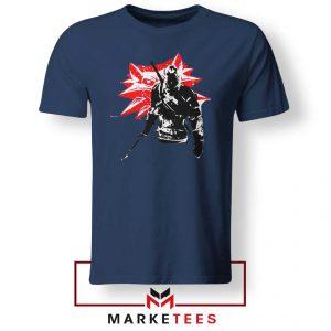 Geralt of Rivia Witcher 3 Navy Tshirt