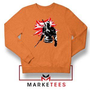 Geralt of Rivia Witcher 3 Orange Sweatshirt