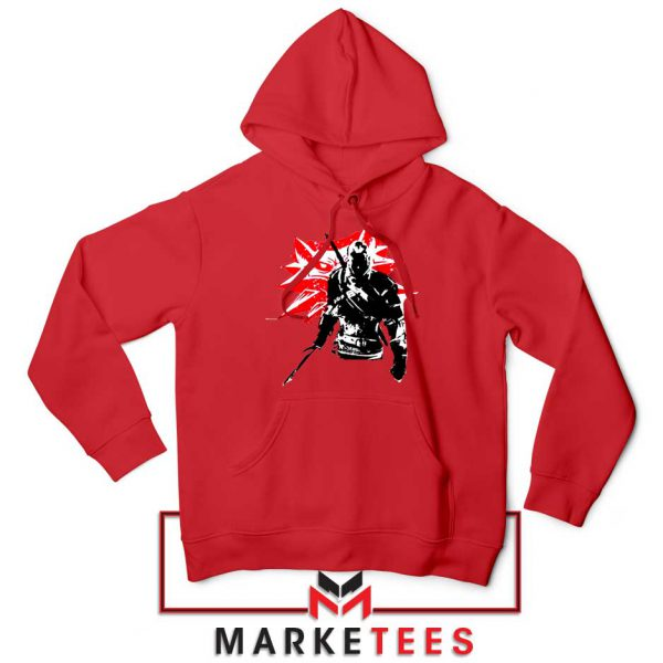 Geralt of Rivia Witcher 3 Red Hoodie