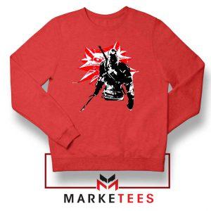 Geralt of Rivia Witcher 3 Red Sweatshirt