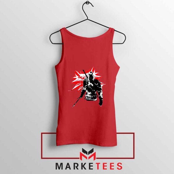 Geralt of Rivia Witcher 3 Red Tank Top