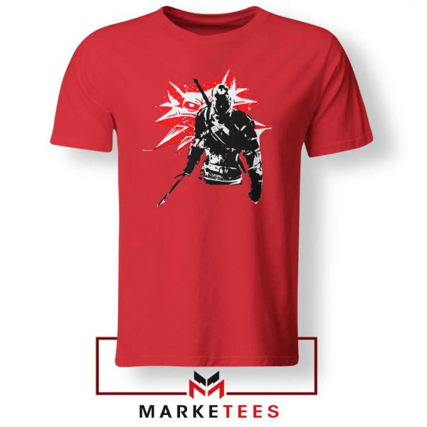 Geralt of Rivia Witcher 3 Red Tshirt