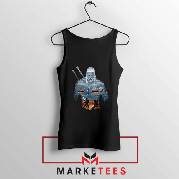 Geralt of Rivia and Eredin Black Tank Top