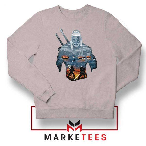 Geralt of Rivia and Eredin Grey Sweatshirt