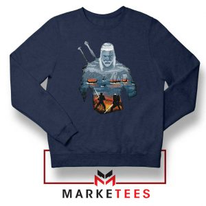 Geralt of Rivia and Eredin Navy Sweatshirt